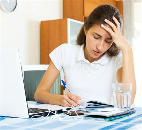 Depressed Female College Student Stock Image - Image of ...