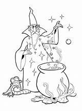 Coloring Wizard Merlin Bulkcolor Medieval Fern sketch template