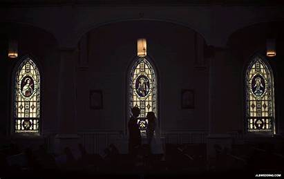Glass Stained Cross Church Dark Animation Cinemagraph