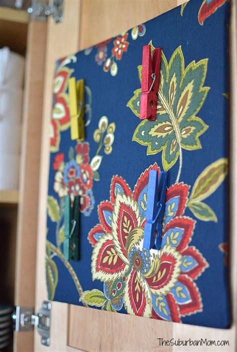 DIY Fabric Cork Board and Clothes Pin Tacks - Waverly ...