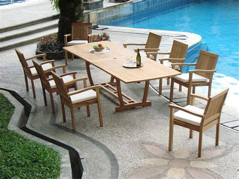 Pool And Patio Furniture by 9 Pc Teak Stacking Garden Outdoor Patio Furniture Pool