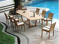pool deck furniture 9 PC TEAK STACKING GARDEN OUTDOOR PATIO FURNITURE POOL ...