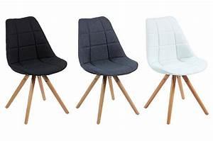 Chaise Tissu Noir : chaise scandinave en tissu noir triopse chaise design ~ Teatrodelosmanantiales.com Idées de Décoration