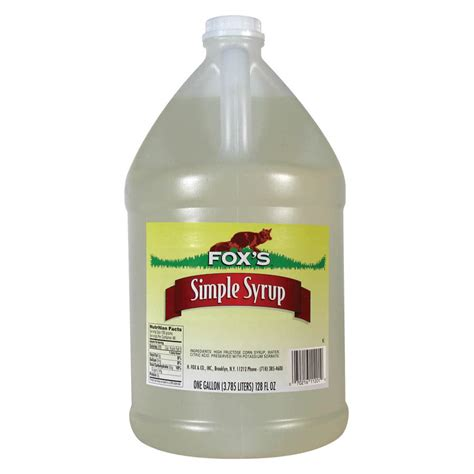 fox s 1 gallon simple sugar syrup