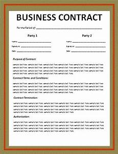 business contract layout free word templates With free contract templates for small business