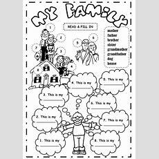 Kindergarten Worksheets About Family Members  Worksheet Example My Family Worksheets For