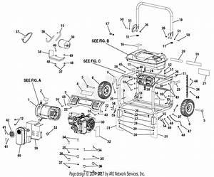 Homelite Hu50011 Series 5 000 Watt Generator Parts Diagram