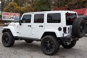Custom 2015 Jeep Wrangler Rubicon Unlimited White