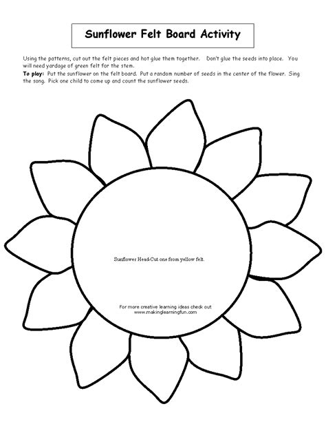 sunflower template printable sunflowers printable  degree