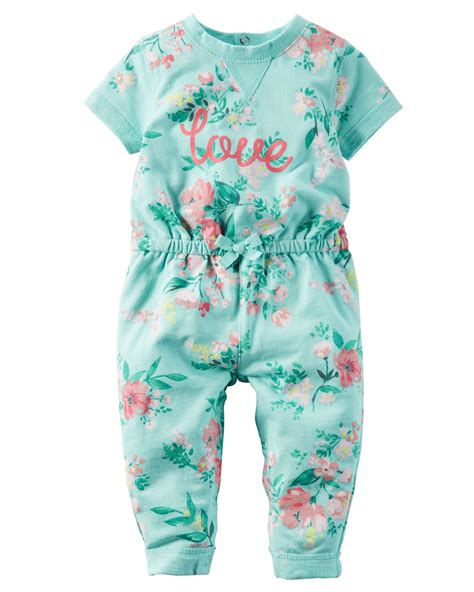 Baby Girl Floral French Terry Jumpsuit Carterscom