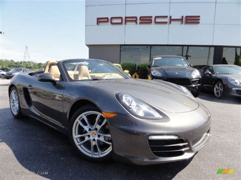 grey porsche boxster 2013 agate grey metallic porsche boxster 67493576 photo