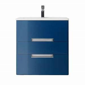 Meuble De Salle De Bain Bleu : meuble de salle de bains bleu com te 60 cm belt castorama ~ Teatrodelosmanantiales.com Idées de Décoration