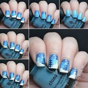 Easy step by winter nail art tutorials for beginners