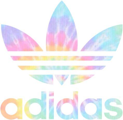 adidas tumblr tiedye sticker rainbow remixit