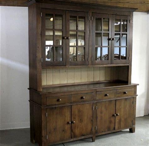 rustic hutch  antique walnut finish ecustomfinishes