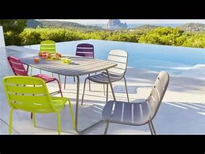 Mobilier Jardin Carrefour : collection mobilier de jardin 2016 hyba chez carrefour la ligne acier 151 youtube ~ Teatrodelosmanantiales.com Idées de Décoration