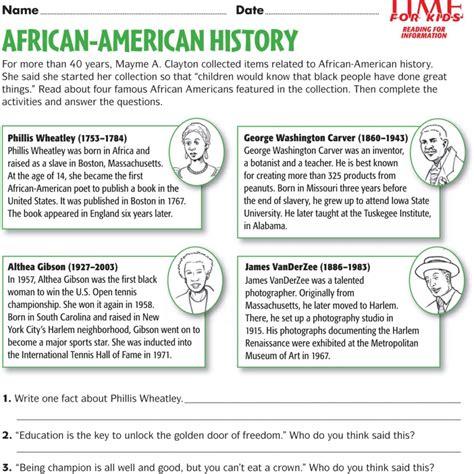worksheets black history free worksheets ks2 worksheet mogenk paper works