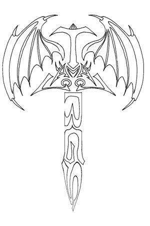 Beautiful Tribal Sword Tattoo Design