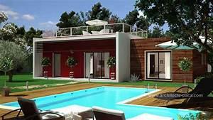 Maison Architecte Plan : plan maison bois plain pied 160 villad 39 architecte 160 villacontemporaine bois ~ Dode.kayakingforconservation.com Idées de Décoration