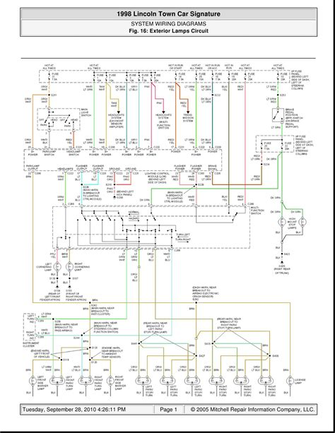 Wiring Car Diagram by 1998 Lincoln Town Car Signature System Wiring Diagrams