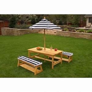 Table Enfant Exterieur : table d 39 ext rieur pour enfant avec ses deux bancs et son ~ Melissatoandfro.com Idées de Décoration