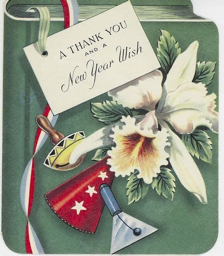 a thank you and a new year wish vintage new years card a new year vintage happy new