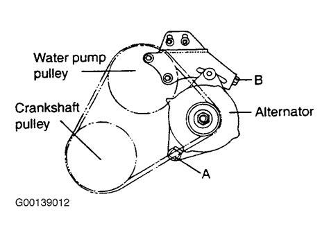 Accent Belt Diagram by 2001 Hyundai Santa Fe Serpentine Belt Routing And Timing