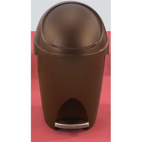 bronze bathroom trash can with lid umbra visor trash can bronze in small trash cans
