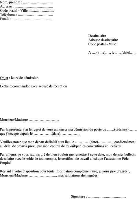 bureau d une association modele lettre de demission bureau association