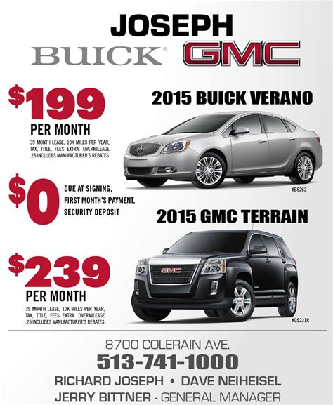 Lease A Car Deals by Joseph Buick Gmc Lease Offers Car Deals And Specials In