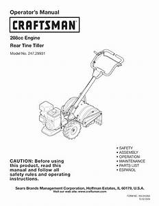Craftsman Tiller 247 29931 User Guide