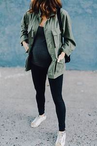 Styling tips for maternity leggings. Be cute and comfy during pregnancy with outfits that ...
