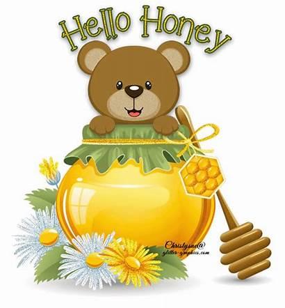 Glitter Honey Hello Greetings Graphics Copy Text