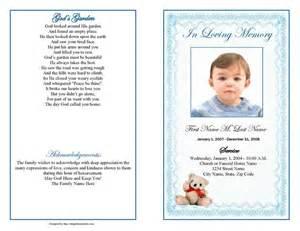 Funeral Program Obituary Template