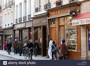 Deux Maximums Shop : row of small shops on the rue des deux ponts on the ile saint louis stock photo royalty free ~ Markanthonyermac.com Haus und Dekorationen
