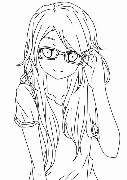Lineart Glasses Coloring Deviantart Pages Printable Drawing