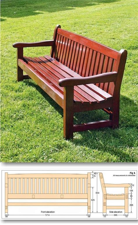 ideas  garden bench plans  pinterest