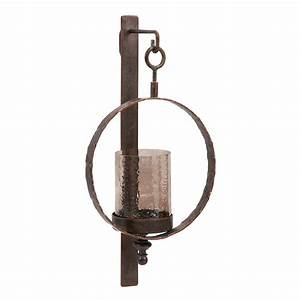 Circle wall candle sconce for Wall candle sconces