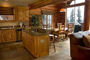 kitchen interior paint colors for log homes cabin kitchens With what kind of paint to use on kitchen cabinets for orange flower wall art