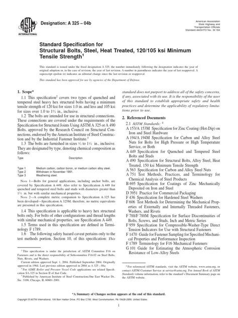 ASTM A325.pdf | Screw | Steel
