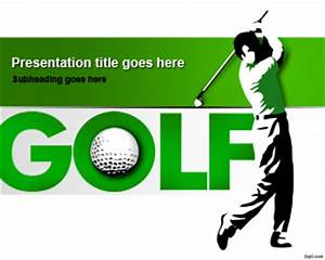 Golf Certificate Template Free Free Golf Club PowerPoint Template