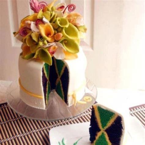 jamaican wedding cake  royal icing  flowers