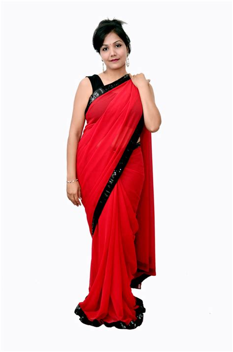 Women Bedroom Colors by Red Saree With Balck Border Craft Shops India
