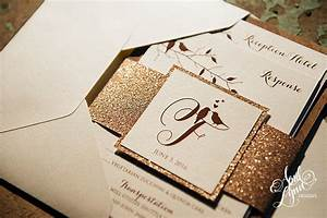 erin rich39s rustic glam rose gold foil and glitter With rustic glamour wedding invitations