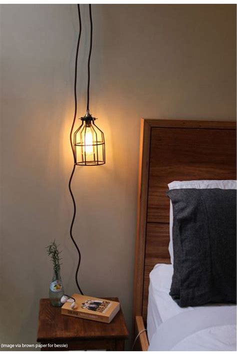 pendant light cord with wall plug and lholder in