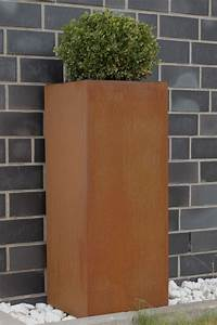 Www Blumenkübel De : blumenk bel pflanzk bel aus cortenstahl block 100 cm rostbraun ~ Sanjose-hotels-ca.com Haus und Dekorationen