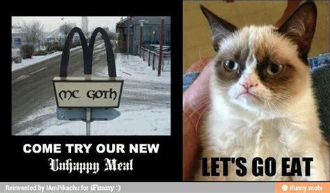 Unhappy Meme - grumpy cat unhappy meal