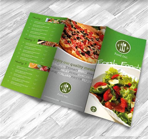 restaurant brochure design examples  inspiration