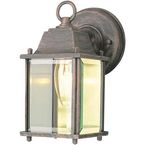 trans globe lighting 1 light square outdoor rust wall