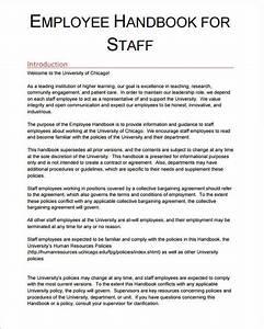 employee handbook template 6 free pdf doc download With company handbook template